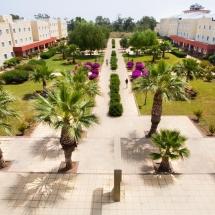 محوطه خوابگاه آکدنیز دانشگاه قبرس