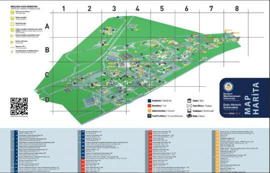 نقشه دانشگاه قبرس