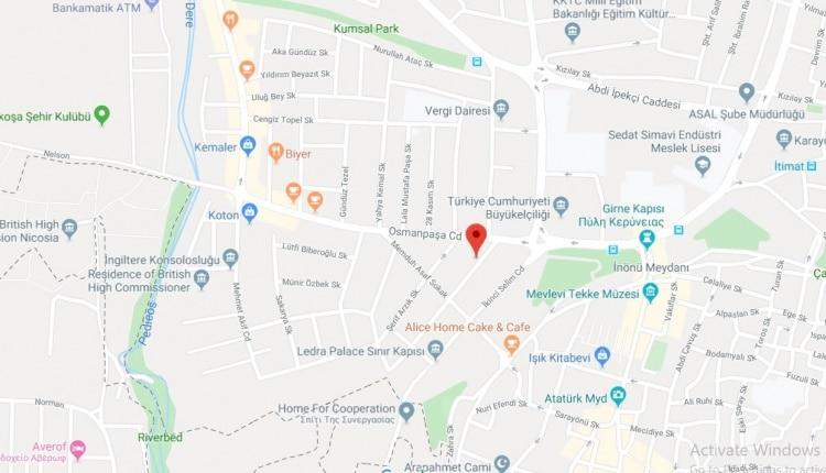 نقشه محل رجیستر گوشی در قبرس