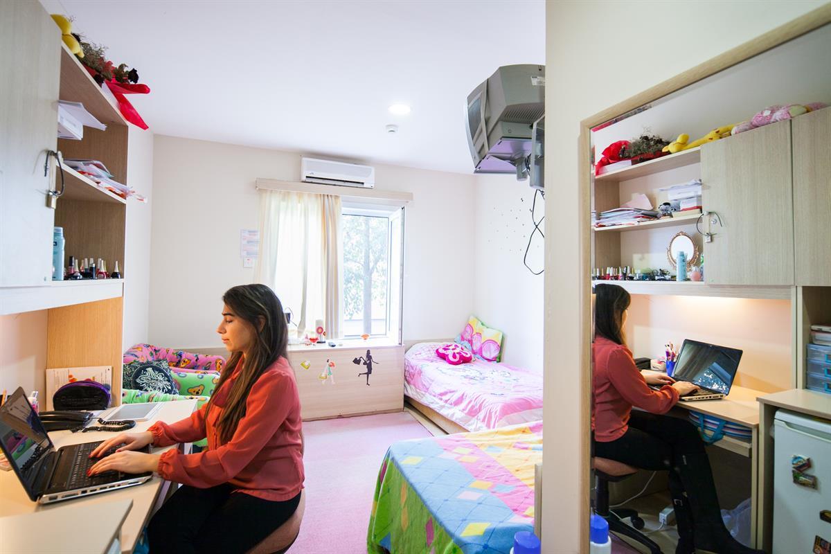 اتاق های خوابگاه لانگسن قبرس