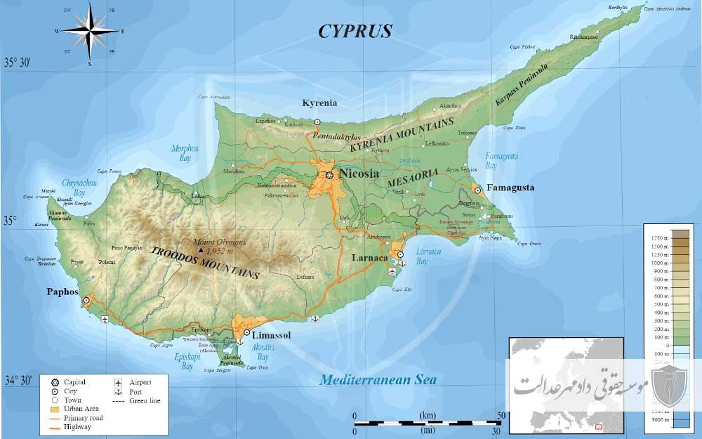 نقشه قبرس
